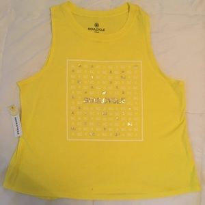 Soulcycle Yellow Muscle tank NWT Medium